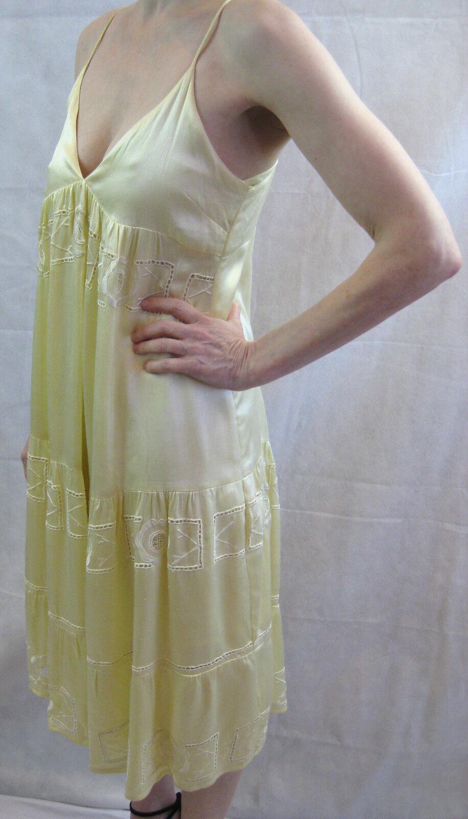 Cohen et Sabine Size 10 Pastel-Yellow Pastel-Yellow Pastel-Yellow Boho Summer Dress 370f23