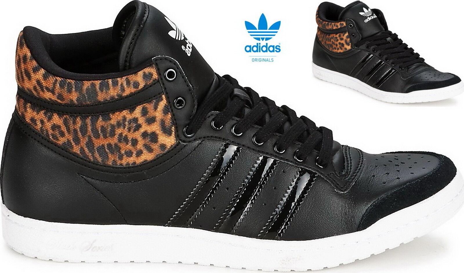 Adidas Top Ten Basket Hi Sleek W Basket Ten Femmes Noir Leopard m20835 2e765e