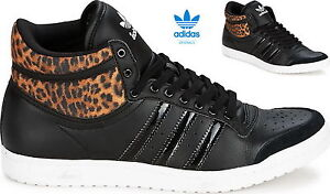 Details about Adidas Top Ten Hi Sleek W Womens Trainers Black/Leopard  m20835- show original title