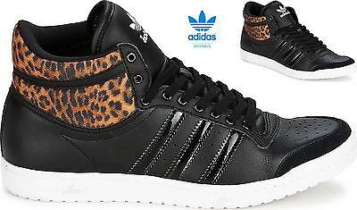 Adidas Top Ten Hi Sleek W Womens Trainers BlackLeopard m20835 | eBay