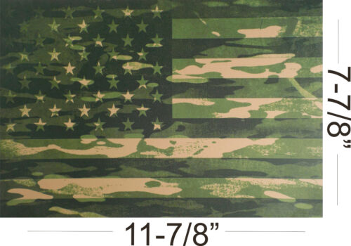 "Kydex Infused Forest Green Camo Flag Print 11 7//8/"" X 7 7//8/"" 1 Sheet"