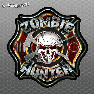 ZOMBIE HUNTER Walking Dead Vinyl Decal Car Wall Truck Sticker CHOOSE SIZE COLOR