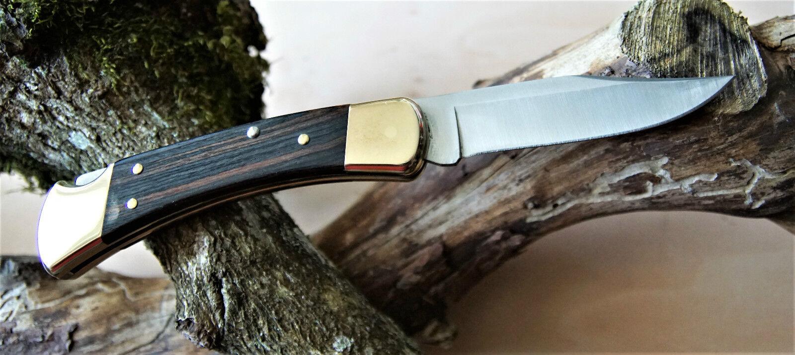 Buck Taschenmessser, Folding Hunter 110, Stahl 420HC Holzschalen, Messingbacken