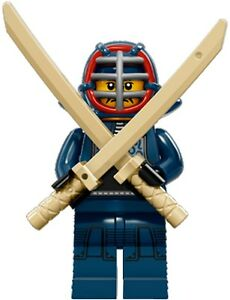 LEGO Minifigures Series 15 Kendo Master with fencing swords and mask