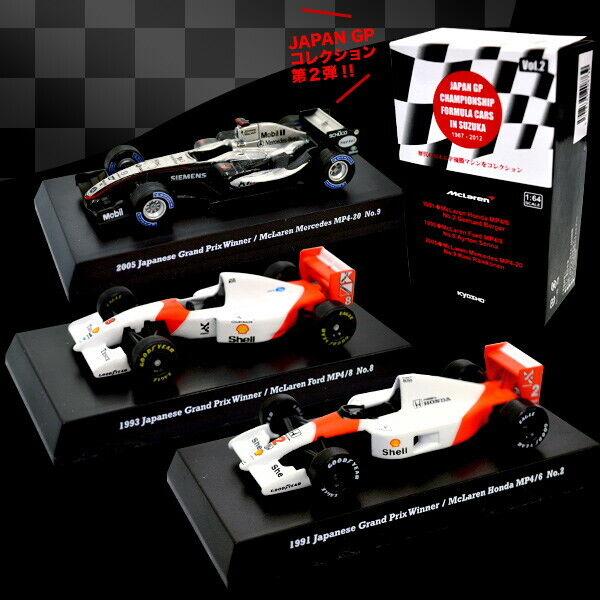 Kyosho 1 64 McLaren Honda máquina pistolas 4 6 MP4-20 fórmula F1 Suzuka leyenda Senna 1991 1993