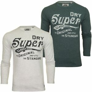 Superdry-T-shirt-homme-034-Classic-Standard-L-S-Tee-034-a-Manches-Longues
