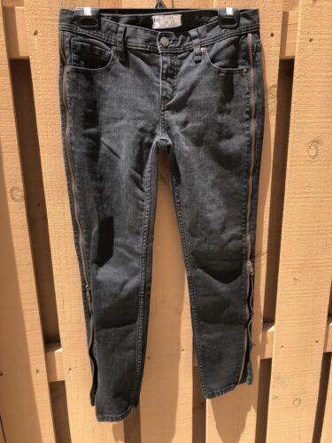 Jeans 28 Côtés Jeans Black Style Les Skinny Fermeture Éclair Free Sur Taille People UpyFWccI