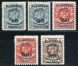 DR-Memel-Nazi-Rare-WWI-Stamp-1923-Overprint-Klaipeda-Memel-Service-Occ-Full-Set