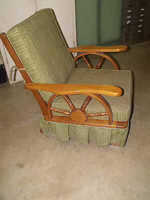 Vintage 1950u0027s Western Cowboy Wagon Wheel Rocking Chair  PICKUP ONLY