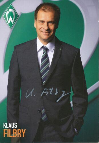 Klaus Filbry   Werder Bremen 2013 2014 Autogrammkarte signiert  279402