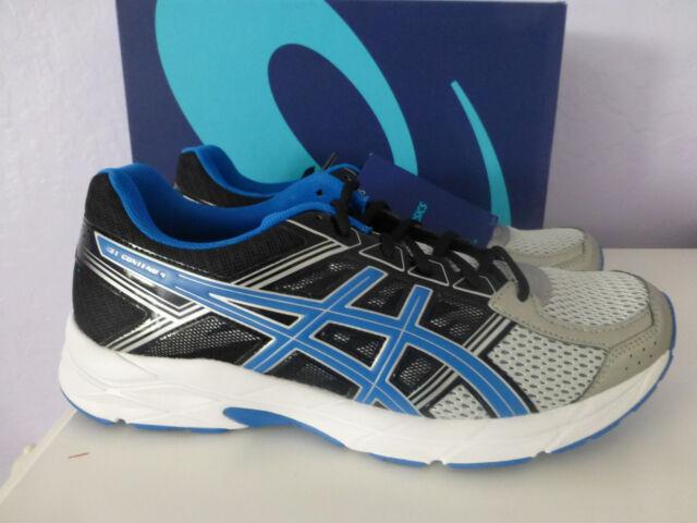 f5b5b34e ASICS GEL Contend 4 Silver Shoes Mens Size 10 Classic Blue Black 715