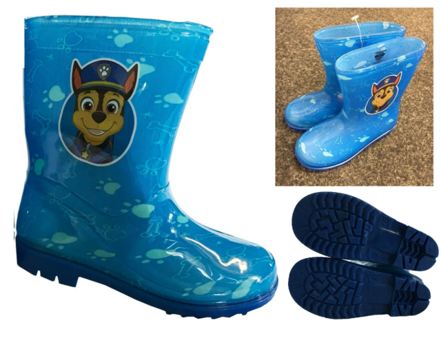 fee451ced3 Childrens Paw Patrol Chase Wellies Wellington Boots Blue Kids Sizes 4 5 6 7  8 9