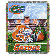 """Florida Gators Home Field NCAA 48""""x60"""" Woven Tapestry Throw Blanket"""