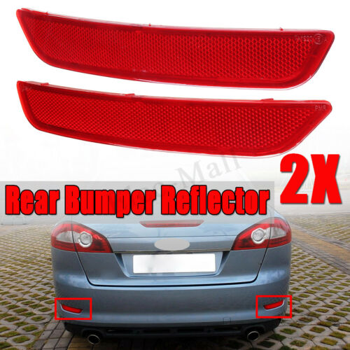 Right For 2007-2010 Ford MONDEO MK4 Pair Red Rear Bumper Reflector Lamps Left