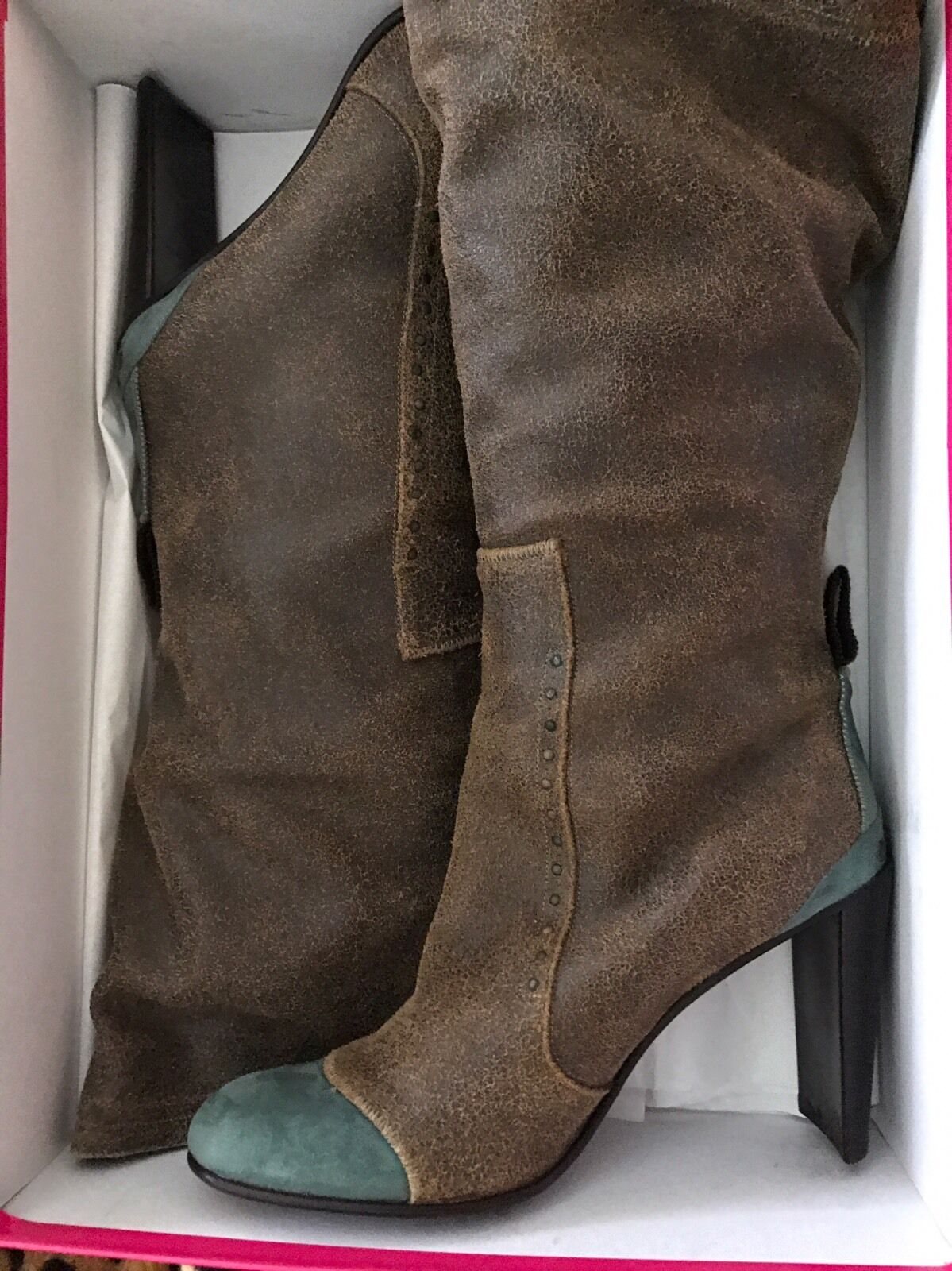 New Materia Prima By Gofferdo 41 Fantini Distressed Leder Stiefel 41 Gofferdo Made In  2faad6