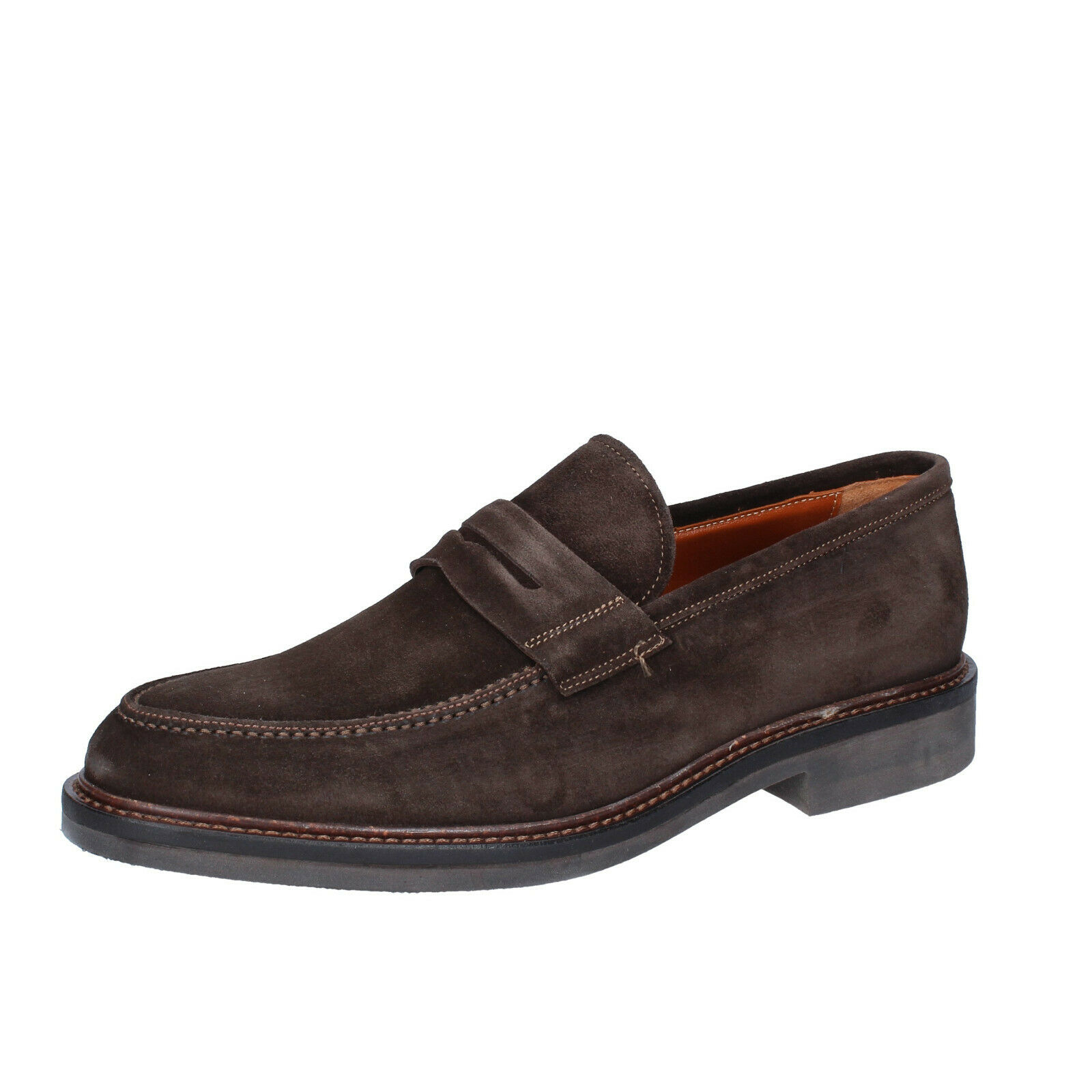 Mens shoes ZENITH 9 () loafers brown suede BS689-43