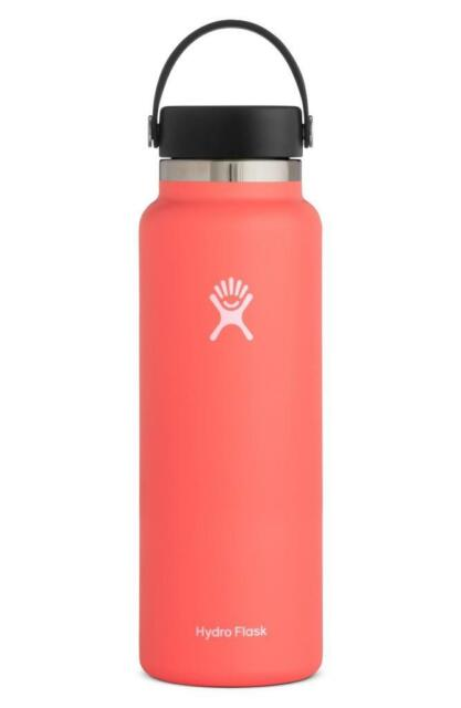 Hydro Flask 40-OZ Insulated Stainless Steel Wide Mouth Cap Hibiscus Bottle