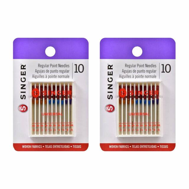 SIZE 14 SINGER SEWING MACHINE NEEDLES PACK OF 10 HIGH QUALITY