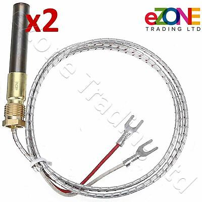 2x Gas Fryer Thermopile Thermocouple 2-Wire IMPERIAL ELITE FRYMASTER DEAN PITCO