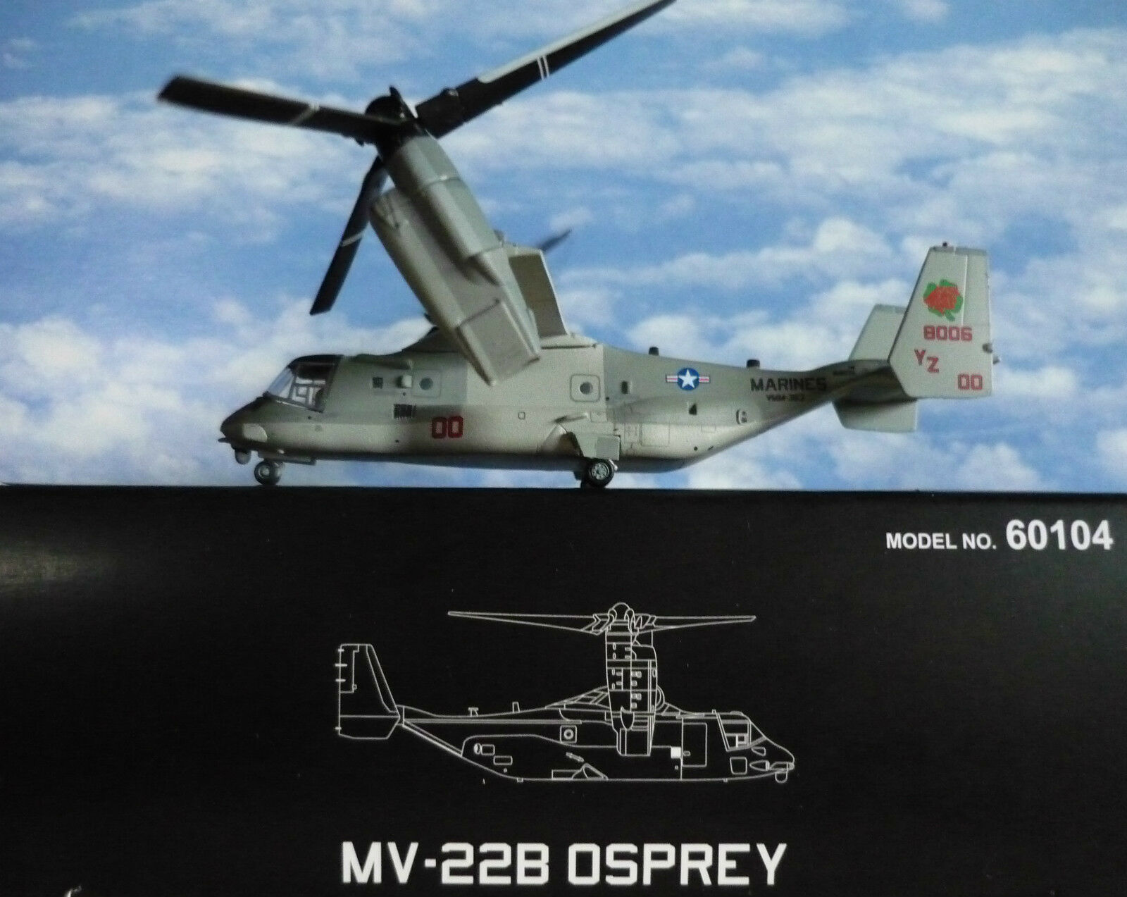 Hogan Wings 1 200 Boeing Mv 22B Osprey u. S.Marines 60104+ Herpa Wings Catalogue