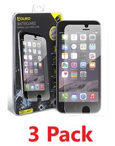 TROIS-3-Pack-De-Verre-Trempe-Protecteur-d-039-ecran-iPhone-6-6-S-7-8-7-Plus