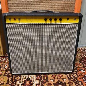 Vintage-1970s-Carlsbro-50-Top-50w-Combo-Amplifier-Amp-w-12-Power-Tone-60-Speaker