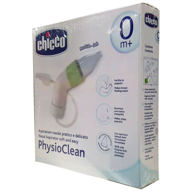 Chicco Phisio Clean Nasal Aspirator Soft And Easy
