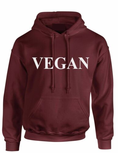Vegan Hoody FOOD vegetarian HUNGRY Foodie Slogan Hoodie kid Adult hooded top