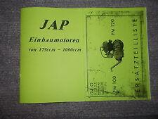 Ersatzteilliste JAP Einbaumotoren 175 bis 1000ccm & ILO Motor FM100