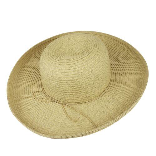 Vintage Straw Hat EUC Wide Brim  - image 1