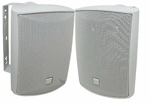 "Dual Electronics LU53PW 5 1/4"" 3-Way 125 W Indoor/Outdoor Loudspeakers, White"