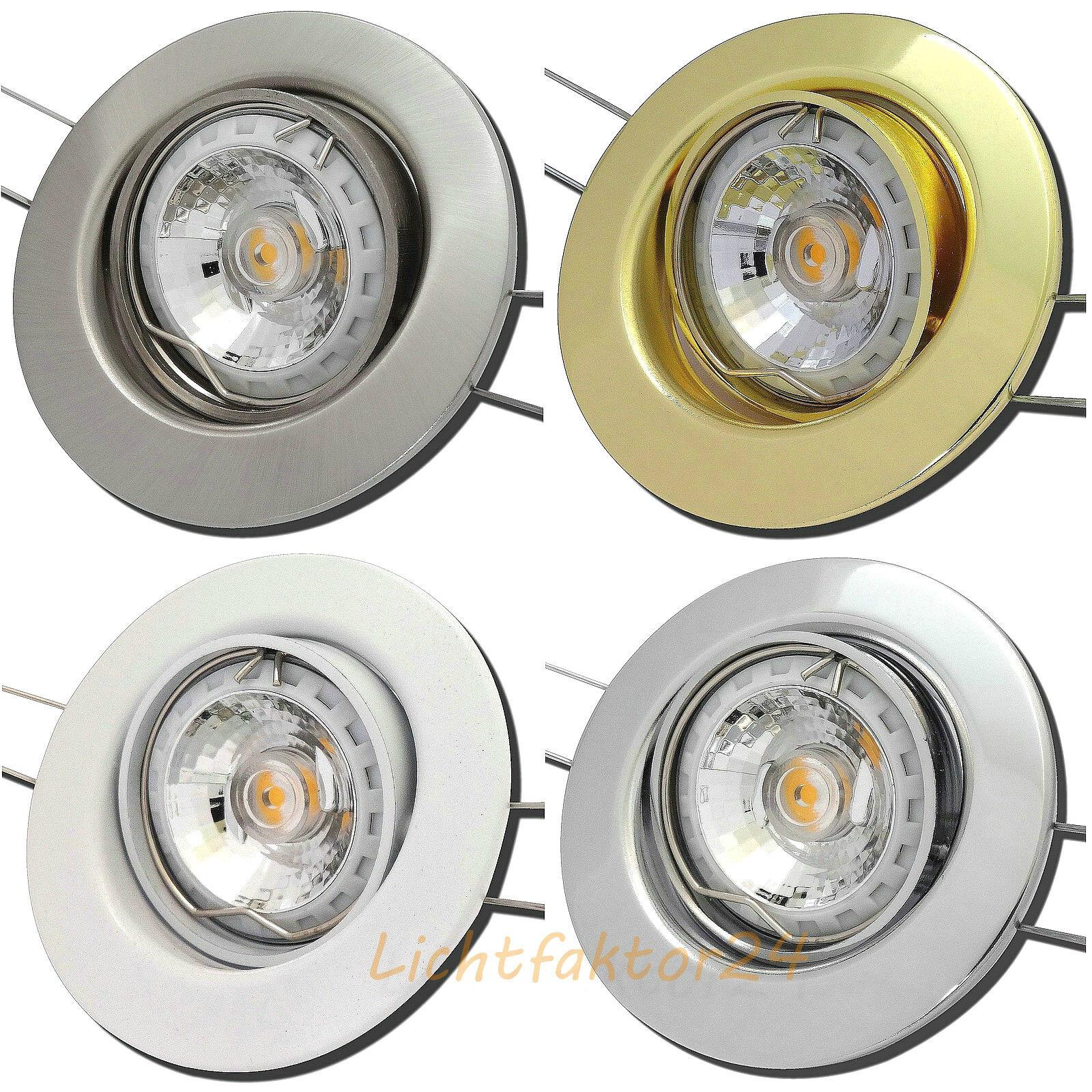 1er - 10er Sets LED Downlights 3,0W 230Volt Einbaustrahler & LED Warmlicht 3000k | Billig ideal  | Gemäßigten Kosten  | Deutschland
