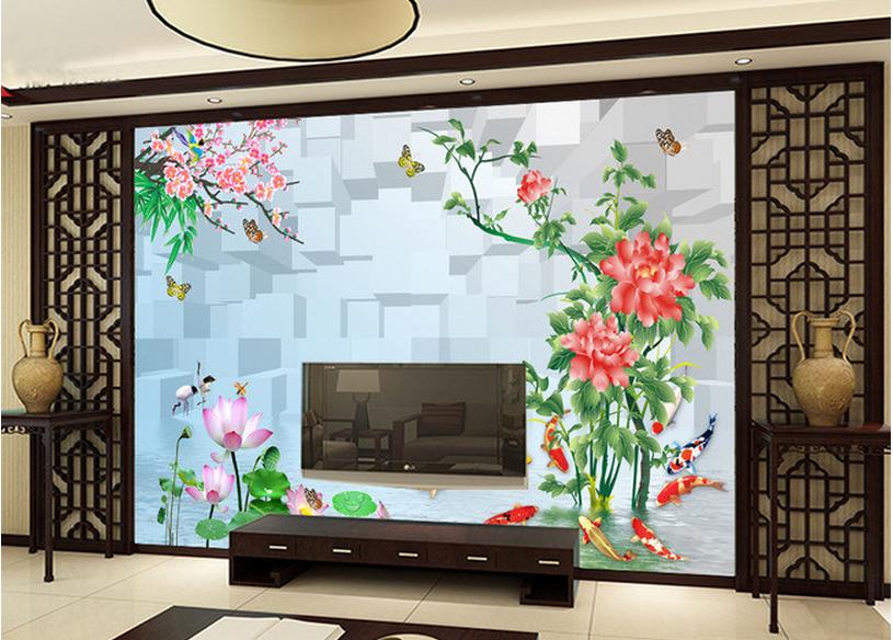 3D Leaves Flowers 983 Wallpaper Mural Paper Wall Print Wallpaper Murals UK Carly