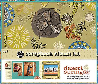 Desert Springs Collection 8x8 Scrapbooking Album Kit 1 Hour Album 20 pages SEI