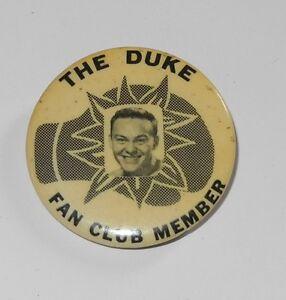 """1940's PM10 Boxing Pin/Button/Coin """"The Duke"""" Fan Club Member Pinback"""