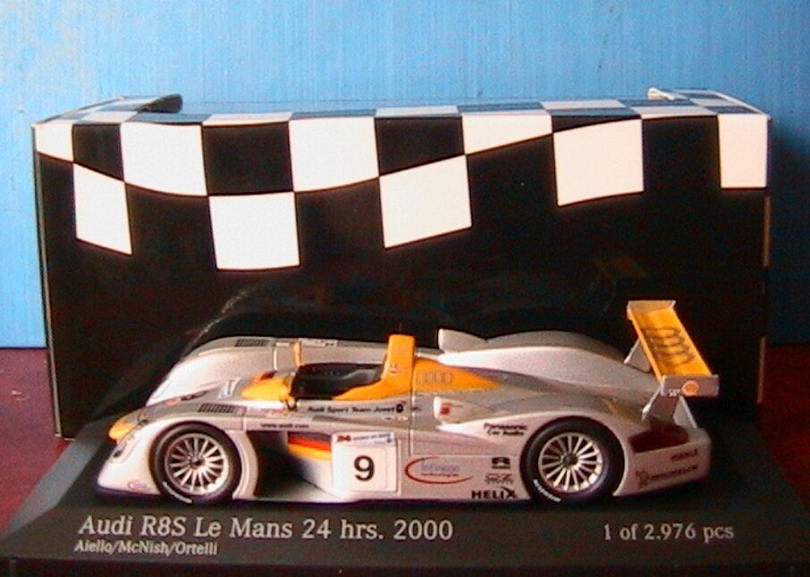 AUDI R8S  9 2ND LE MANS 2000 TEAM JOEST AIELLO MCNISH ORTELLI MINICHAMPS 1 43