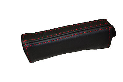 red stitch FITS SEAT IBIZA MK4 02-08 LEATHER HANDBRAKE HANDLE COVER ONLY