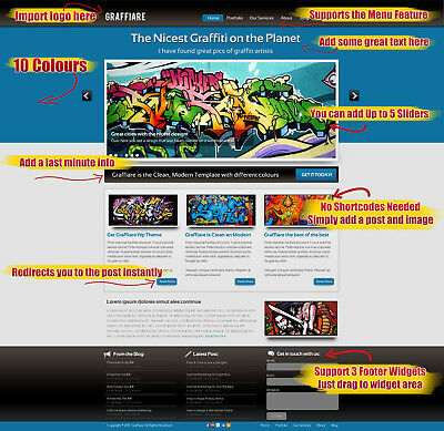 10 Colors Graffiti Wordpress Theme on CD