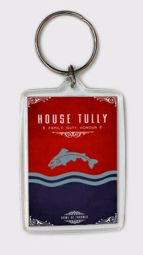 CASA TULLY HOUSE TULLY LLAVERO JUEGO DE TRONOS KEYRING GAME OF THRONES