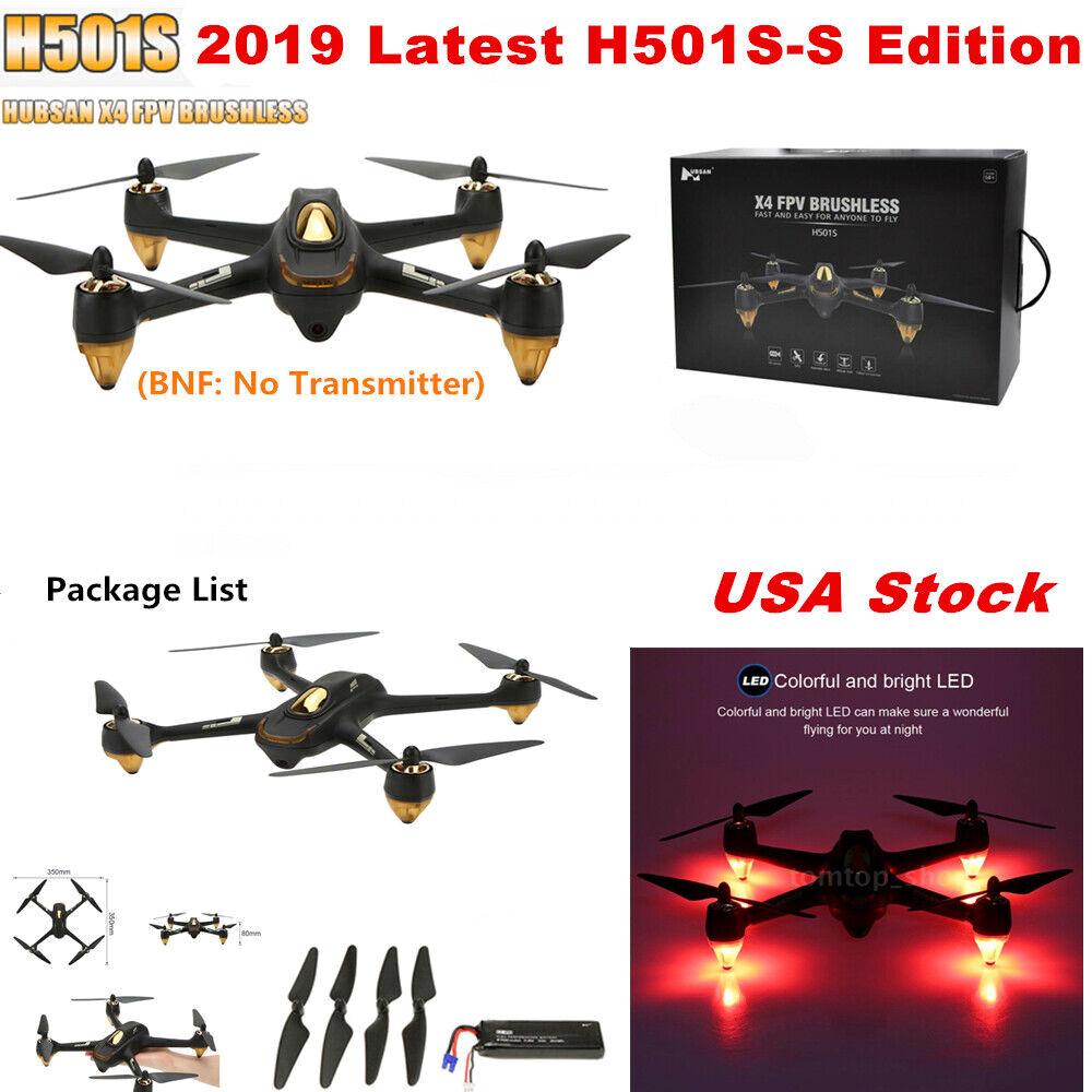 Hubsan X4 H501S Drone 5.8G sin escobillas RC Cuadricóptero Con Cámara 1080P HD GPS Bnf