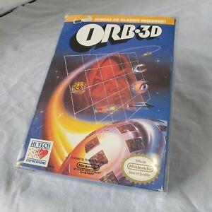 ORB 3D - Nintendo NES Game, Glasses, Box, Manual & Collectors Cover CIB Complete