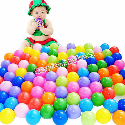 20/100/200 SOFT PLASTIC OCEAN BALL baby kid children TOY SWIM pit pool game