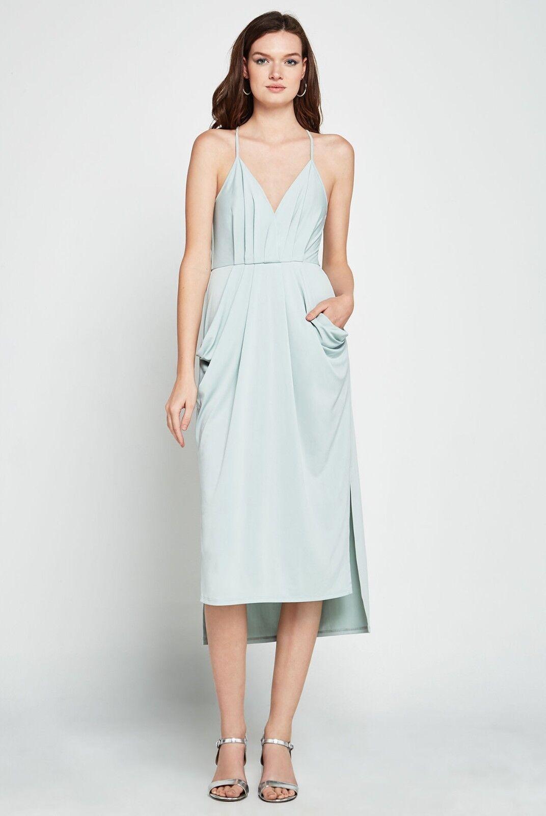 Bcbgeneration BCBG Midi Faux Wrap Dress XXS Sage