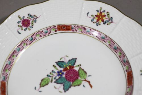 Herend Multi Chinese Bouquet Side Salad Plate-Crescent Bone Plates 1pc