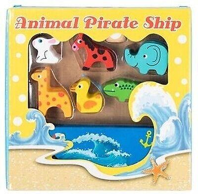 Balancespil - Stabelspil Piratskib med 12 dyr, Skib
