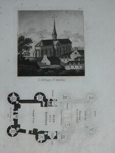 Incisione 1839 Parigi L Abbey St Antoine Piantina Di La Bastille