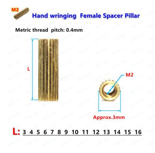 M2 Female-Female Brass Standoff Column Spacer Support Spacer Pillar For Camera