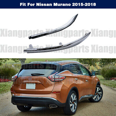 Rear, Passenger Side for Nissan Murano NI1147101 2015 to 2016 New Bumper Trim