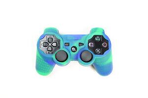 Playstation-3-Camouflage-Silikon-Schutzhuelle-Controller-Huelle-fuer-PS3-Neu
