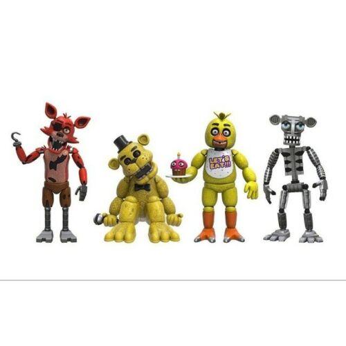 At Freddy/'s Five Nights PVC Action Figure Bonnie Foxy Freddy 5 Fazbear Bear Toys